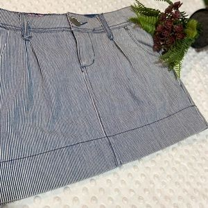 Route 66 Striped denim skirt size 3/4